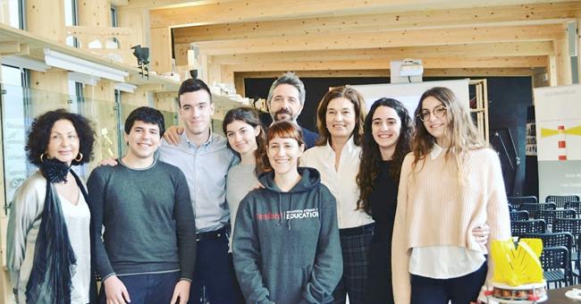 Sonia Bonfiglioli, Elena Ugolini, Lorenzo Raggi e gli studenti del liceo